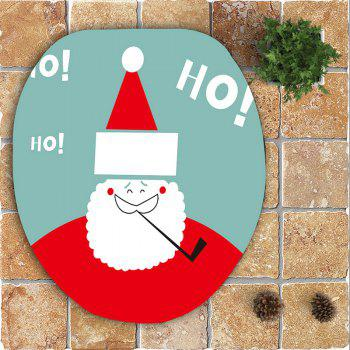 3Pcs Cute Santa Claus Pattern Bath Toilet Mats Set - COLORFUL