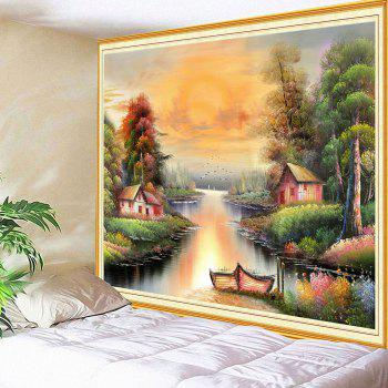 Wall Art Countryside Beautiful Scenery Print Tapestry - COLORFUL W79 INCH * L71 INCH