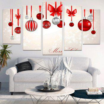Baubles Printed Decorative Unframed Canvas Paintings - COLORFUL 1PC:8*20,2PCS:8*12,2PCS:8*16 INCH( NO FRAME )