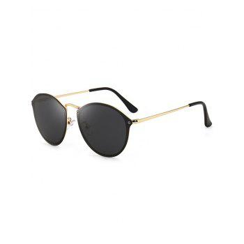 Cat Eye Anti UV Mirrored Sunglasses - BLACK BLACK