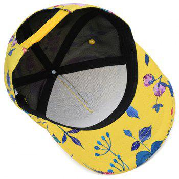 3D Printed Hiphop Snapback Hat - YELLOW