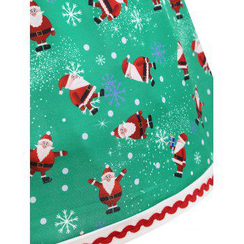 Christmas Santa Claus Snowflake Plus Size Skirt - GREEN 5XL