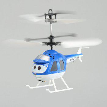 Flying Mini RC Infrared Induction Flashing Light Helicopter Aircraft - BLUE