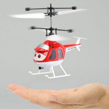 Flying Mini RC Infrared Induction Flashing Light Helicopter Aircraft - RED