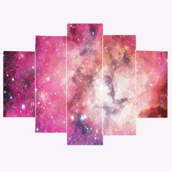 Galaxy Pattern Decorative Unframed Canvas Paintings - PINK 1PC:12*31,2PCS:12*16,2PCS:12*24 INCH( NO FRAME )