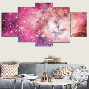 Galaxy Pattern Decorative Unframed Canvas Paintings - PINK PINK