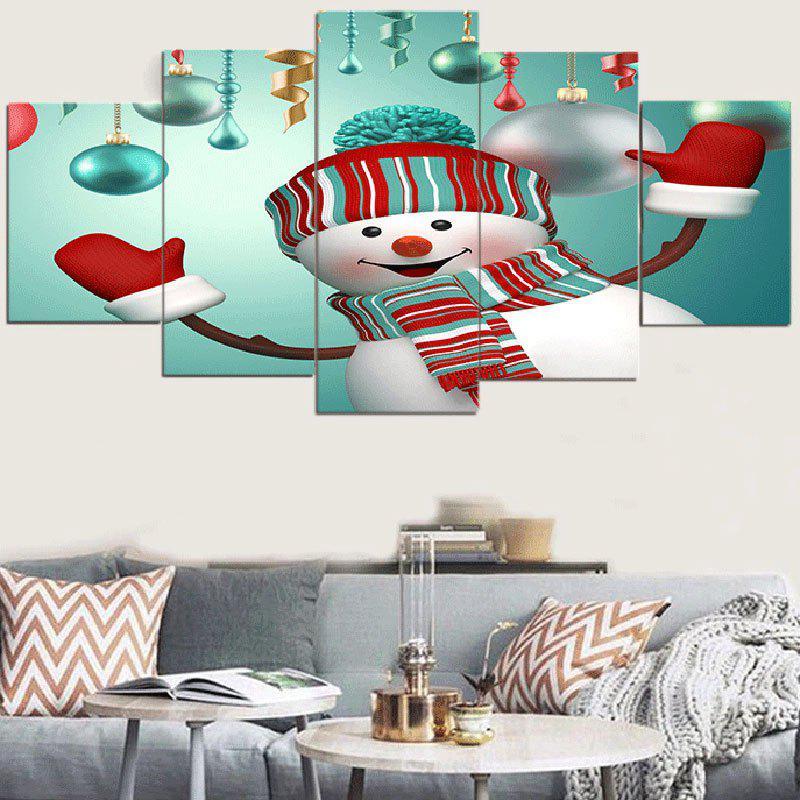 Christmas Snowman Print Unframed Wall Art Canvas Paintings