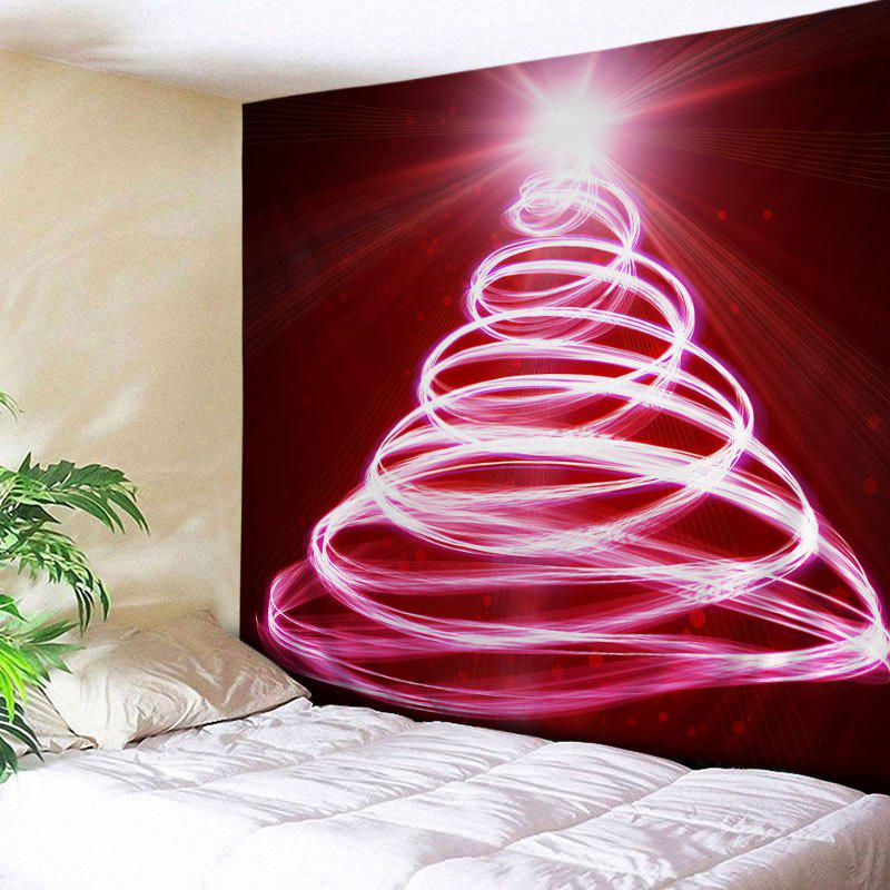 2017 Christmas Lights Tree Print Tapestry Wall Hanging Art RED W INCH L INCH In Wall Tapestries ...