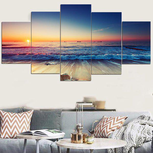 Sunset Seascape Patterned Canvas Wall Art Paintings sunset seascape patterned canvas wall art paintings