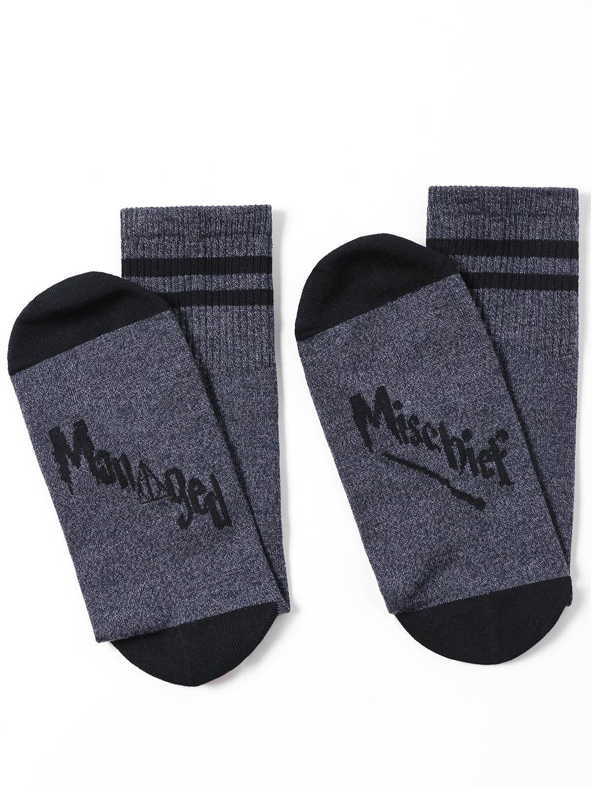 Tube Socks with Mischief Printing - GRAY