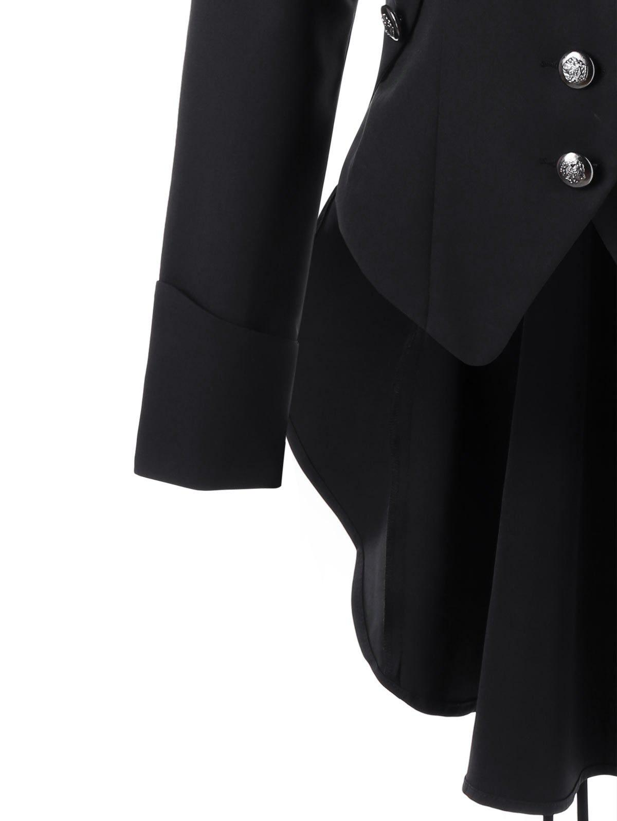 Button Up Tailcoat - BLACK 2XL