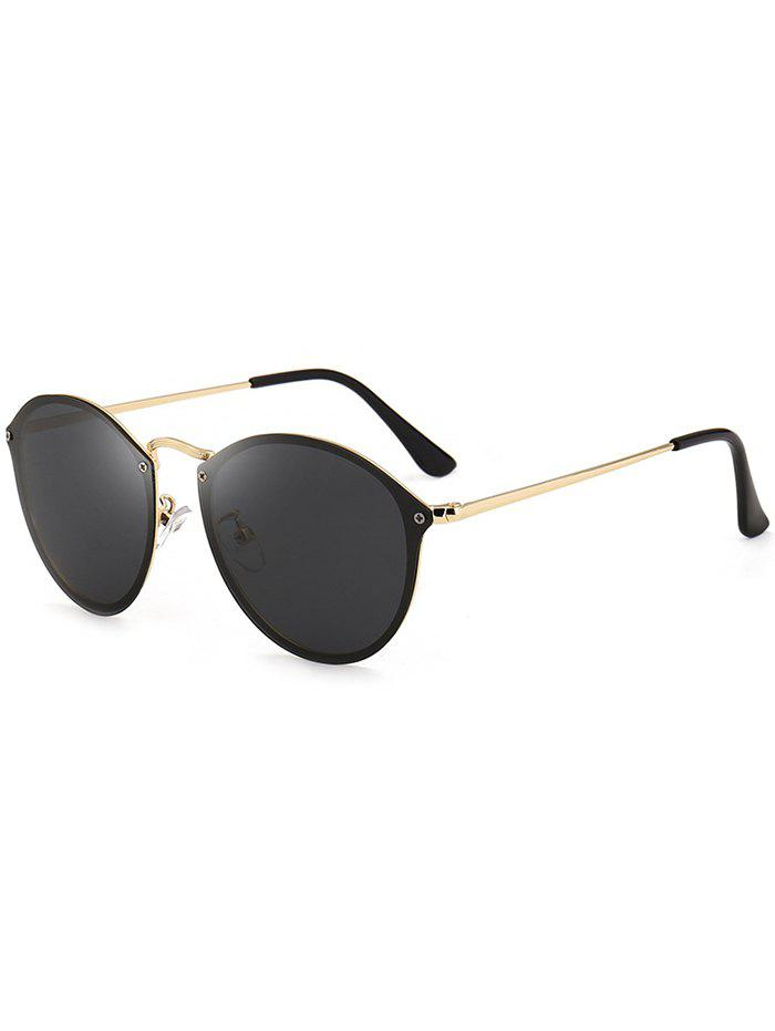 Cat Eye Anti UV Mirrored Sunglasses - BLACK