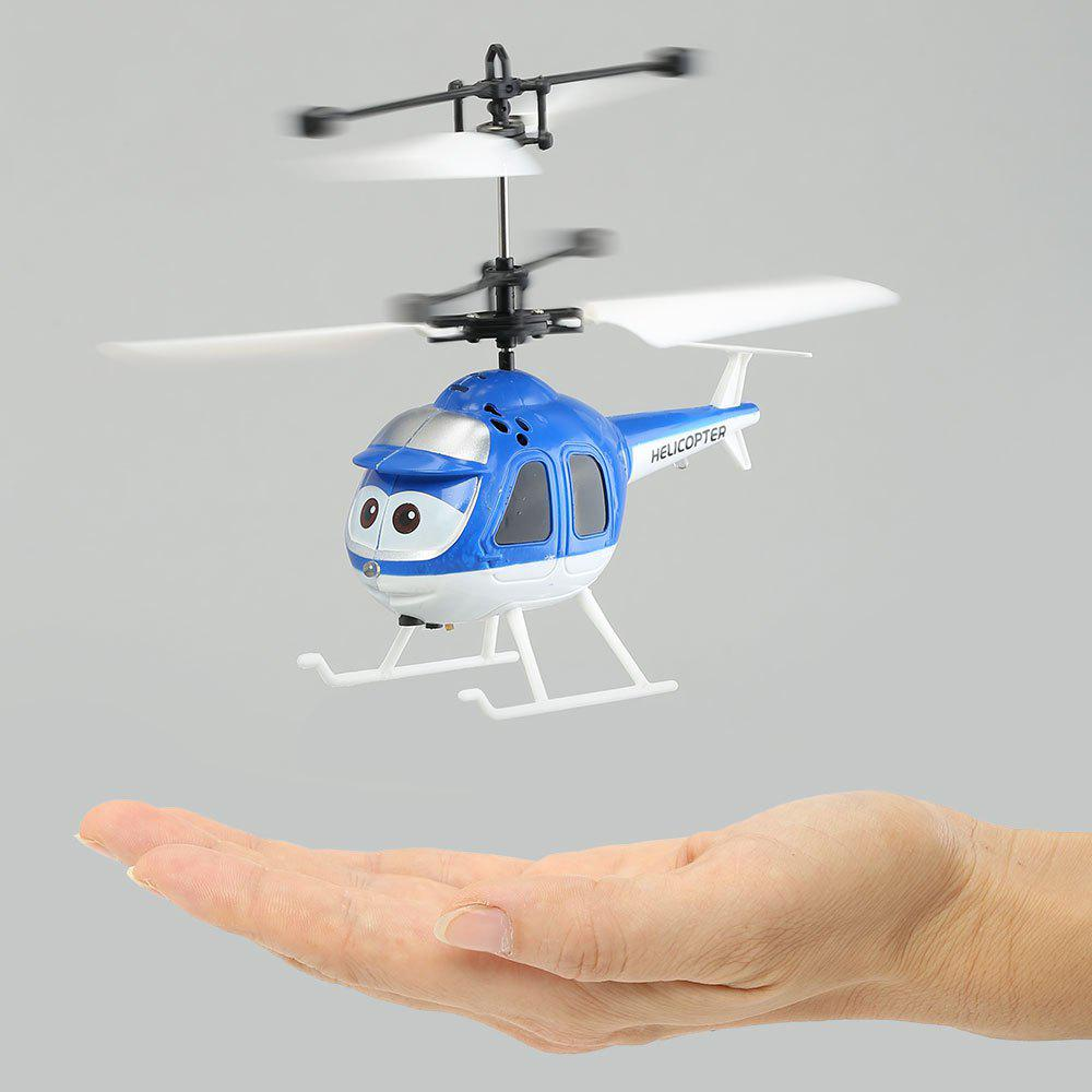 Flying Mini RC Infrared Induction Flashing Light Helicopter Aircraft