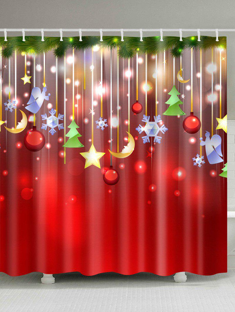 2018 Christmas Waterproof Bathroom Shower Curtain Colormix