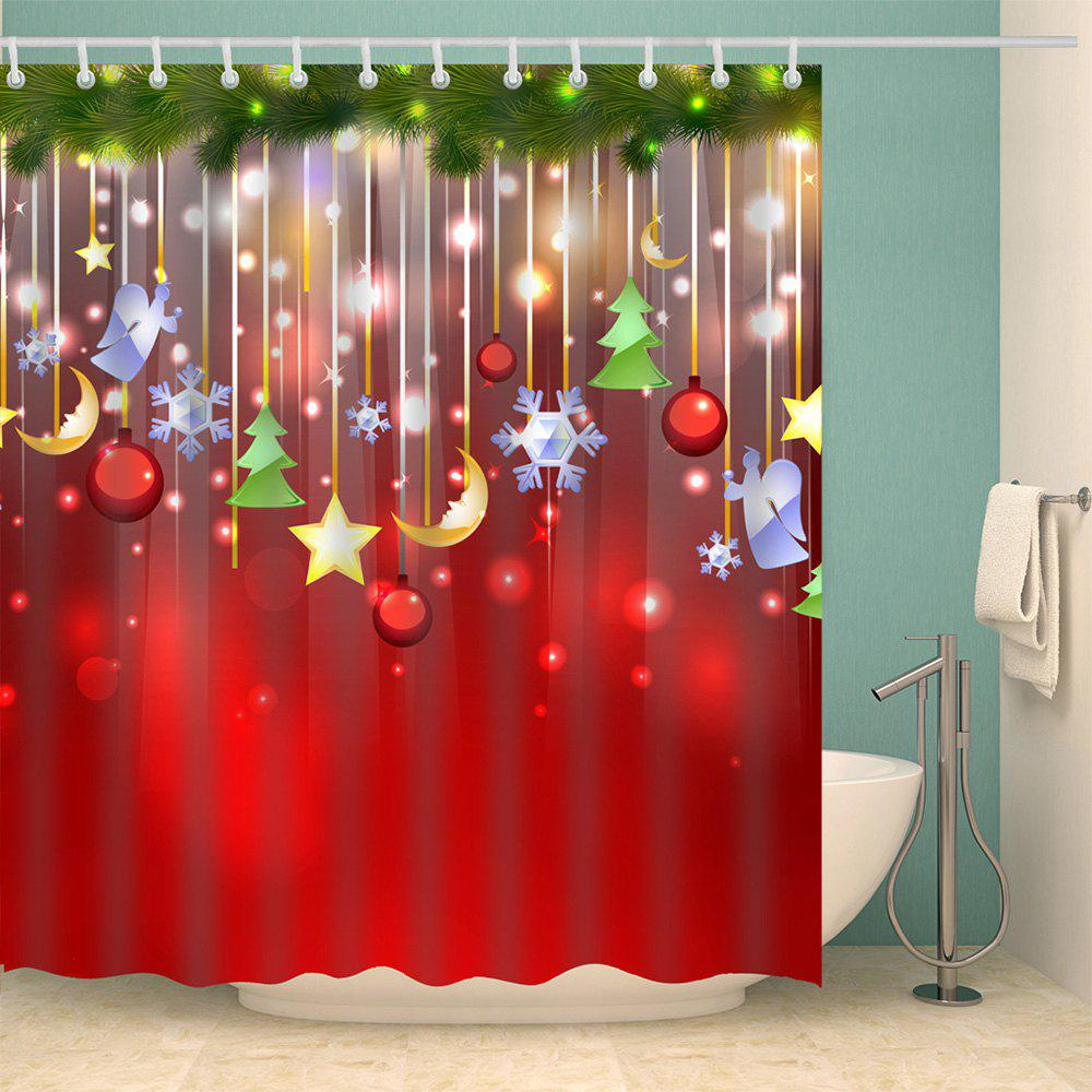 2018 Christmas Waterproof Bathroom Shower Curtain Colormix L In Shower Curtains Online Store