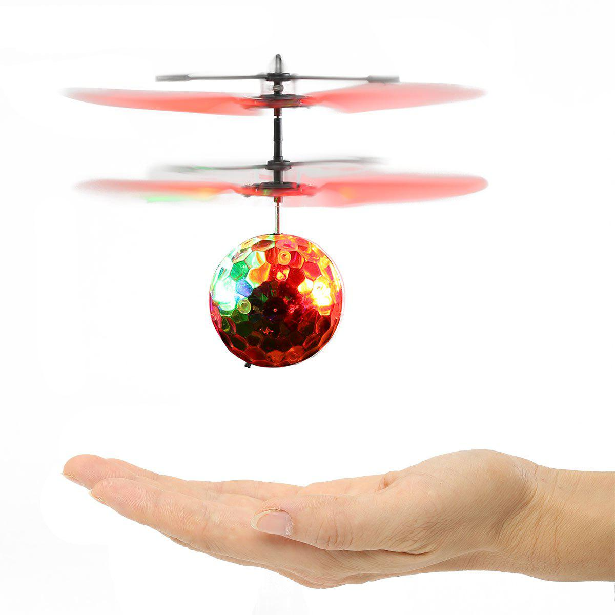 Creative Infrared Induction Colorful LED Flash Flying Ball - TRANSPARENT