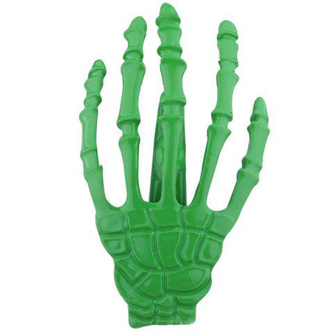 Cool Skeleton Hand Shaped Barrette - GREEN
