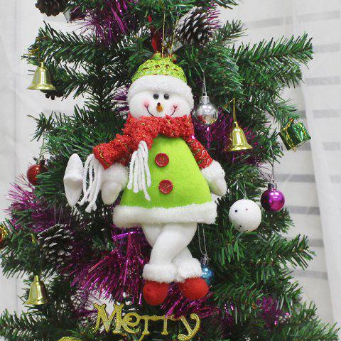 Snowman Shape Doll Christmas Ornaments Hangings - GREEN