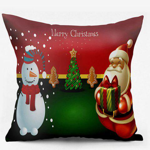 Santa Claus Christmas Snowman Double Side Printed Pillowcase - COLORMIX W18 INCH * L18 INCH