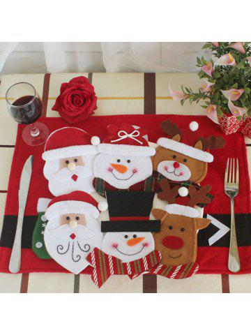 christmas tableware decor 6pcs knives and forks bags