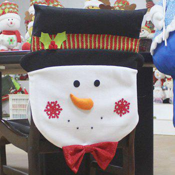 Snowman Pattern Christmas Decoration Chair Back Cover - COLORFUL