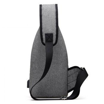 USB Charging Port Chest Bag -  GRAY