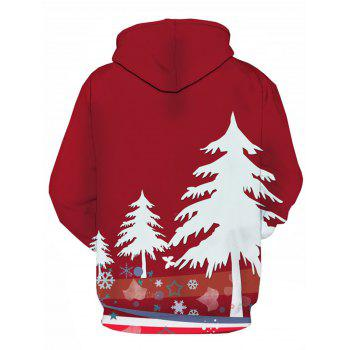 Christmas Tree 3D Print Pullover Hoodie - COLORMIX 2XL