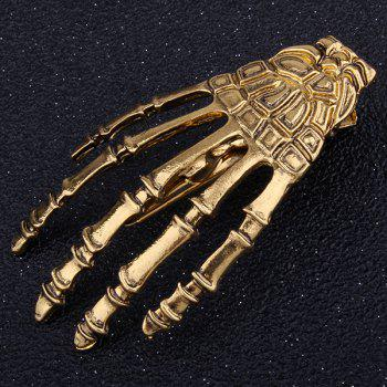Cool Skeleton Hand Shaped Barrette -  GOLDEN