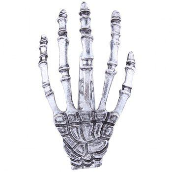 Cool Skeleton Hand Shaped Barrette - SILVER SILVER