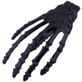 Cool Skeleton Hand Shaped Barrette - BLACK