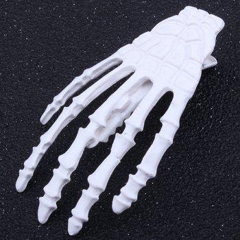 Cool Skeleton Hand Shaped Barrette - WHITE