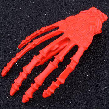 Cool Skeleton Hand Shaped Barrette - RED