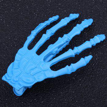 Cool Skeleton Hand Shaped Barrette - BLUE