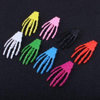 Cool Skeleton Hand Shaped Barrette - YELLOW
