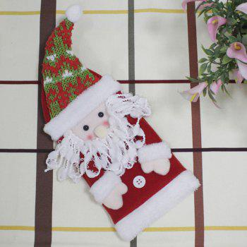 Santa Claus Shape Christmas Decor Winebottle Cover - COLORFUL