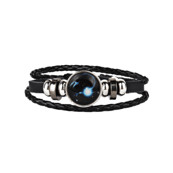 Bracelet Vintage Corde Tressée 12 Constellations - Poissons