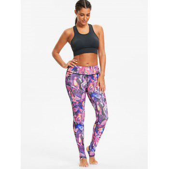 Sports High Rise Pattern Stirrup Leggings - multicolorCOLOR multicolorCOLOR