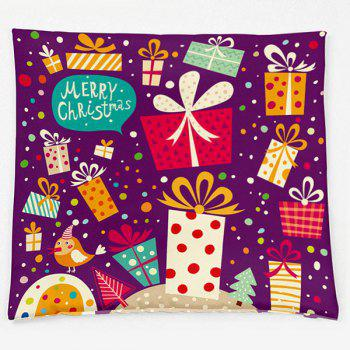 Christmas Gift Double Side Printed Decorative Pillow Case - PURPLE W18 INCH * L18 INCH