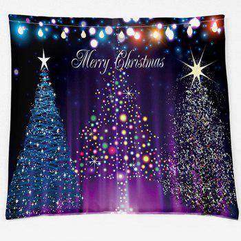 Neon Christmas Tree Double Side Printed Decorative Pillow Case - COLORMIX W18 INCH * L18 INCH