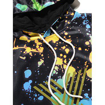 Sweat-shirt à Capuche Imprimé Géométrique 3D - multicolore XL
