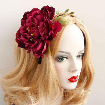 Blossom Braid Leaf Vintage Hairband - RED RED