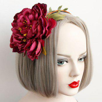 Blossom Braid Leaf Vintage Hairband -  RED