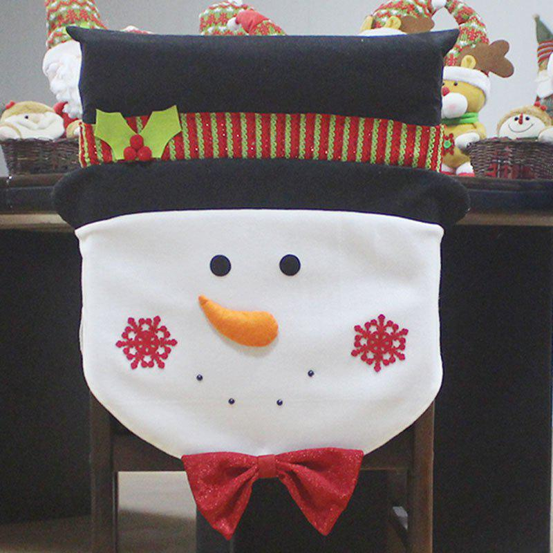 Snowman Pattern Christmas Decoration Chair Back Cover 2017 hot selling christmas decoration inflatable snowman