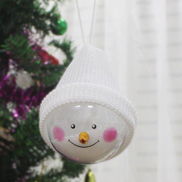 Snowman Transparent Ball Dolls Christmas Tree Hangings