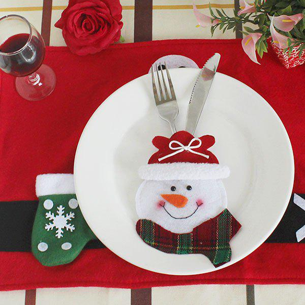 Christmas Snowman Knife And Fork Bag Table Decorations
