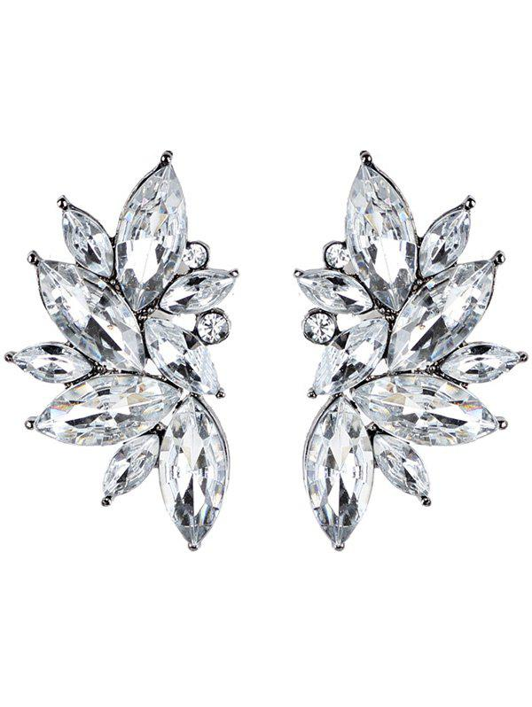 Statement Rhinestone Faux Crystal Earrings