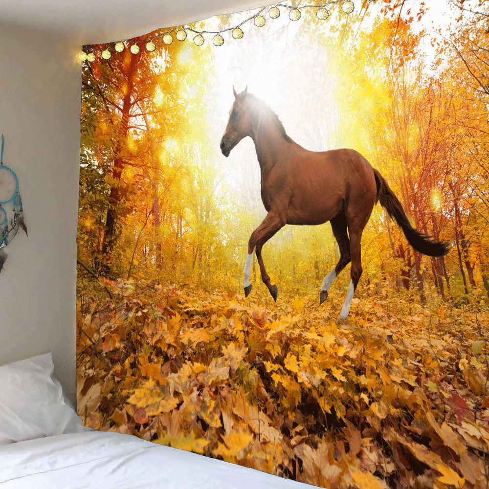 Sunset Forest Horse Patterned Wall Art Tapestry sunset park