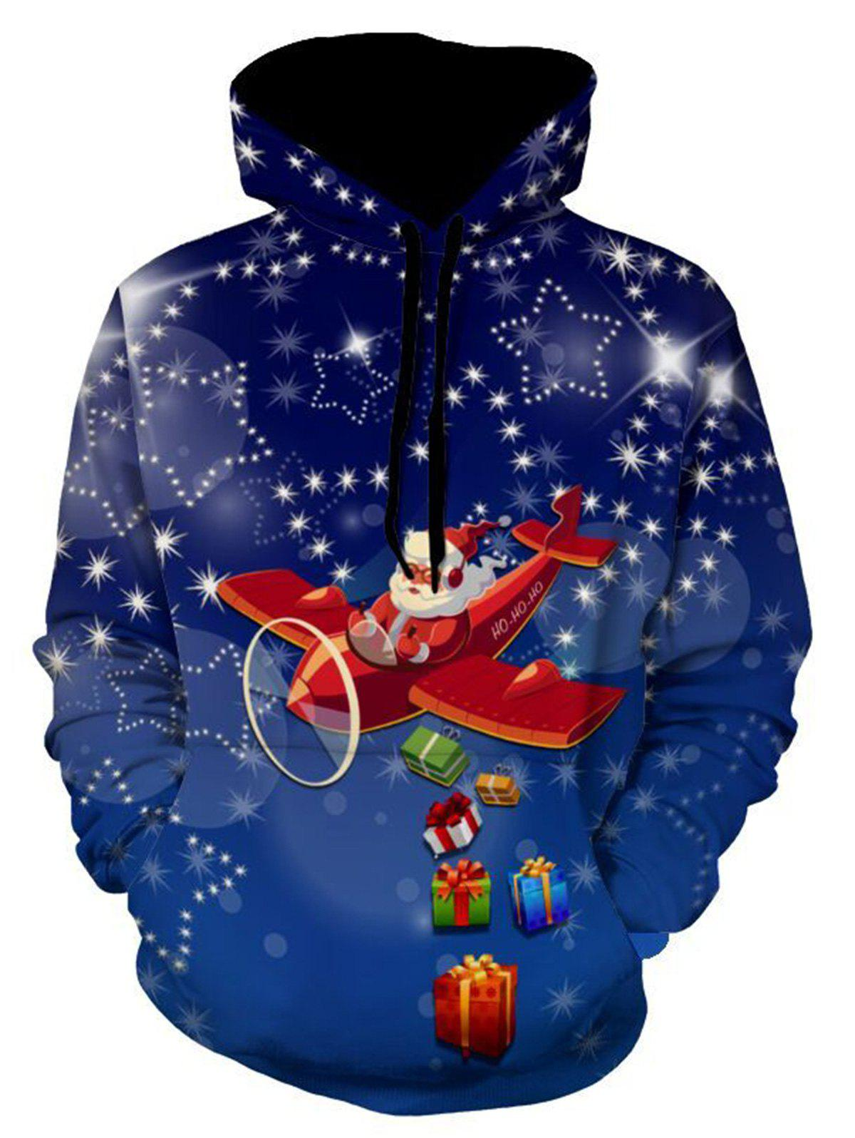 Christmas Santa Clause Pullover Printed Hoodie merry christmas santa clause cards 3d pop up greeting card christmas gifts free shipping