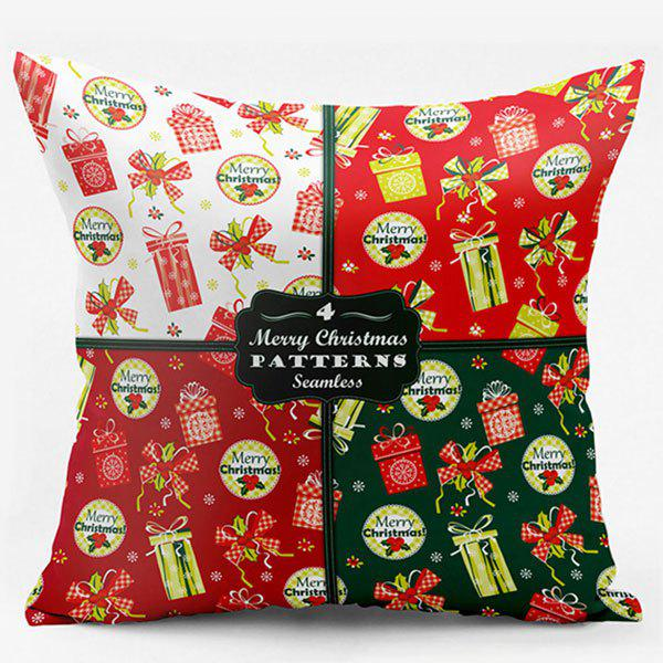 Double Side Printed Christmas Throw Pillowcase - COLORMIX W18 INCH * L18 INCH