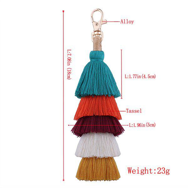 Multilayered Tassel Bohemian Keychain - COLORFUL